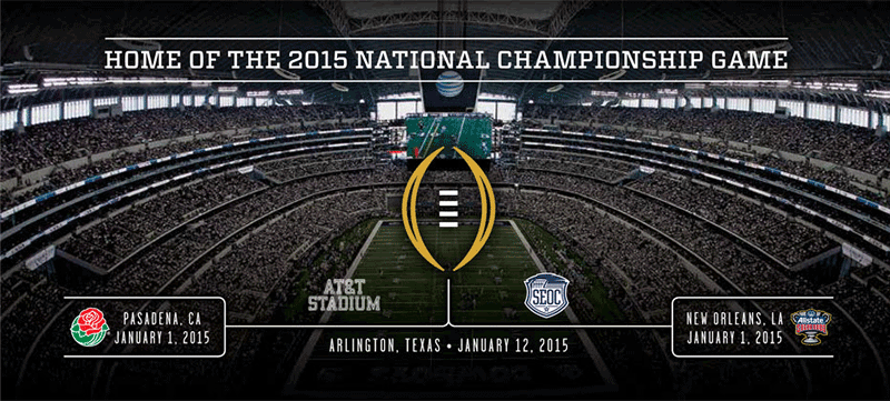 national championship 2015 football scores of college football