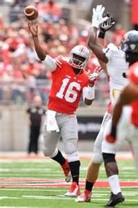 2nd string Buckeye quarterback J.T. Barrett.
