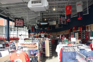 The view of almost the entire store and the hundreds of items for sale.