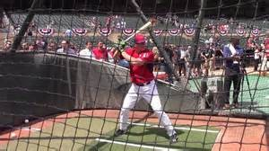 Then Yankees prospect Peter O'Brien taking batting practice while playing for Team USA.