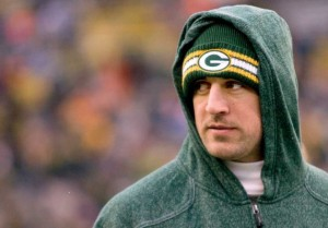 Winning two seperate awards on the night, Green Bay Packer Aaron Rodgers.