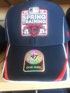 The new 2015 Indians Spring Training cap.