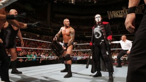 Sting helps Orton confront Team Authority
