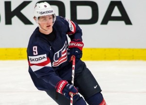 Ostrava, 12.5.2015, Ice Hockey IIHF World Championships, USA - Slovakia, Jack Eichel (USA)****NO AGENTS----NORTH AND SOUTH AMERICA SALES ONLY----NO AGENTS----NORTH AND SOUTH AMERICA SALES ONLY****