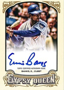 2014 Topps Gypsy Queen Ernie Banks Auto