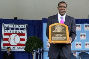 at Clark Sports Center during the Baseball Hall of Fame induction ceremony on July 25, 20010 in Cooperstown, New York. Dawson was an eight time all-star during his twenty one year career finishing with 438 home runs, 1,591 runs batted in, and 314 stolen bases.Dawson was also the National League Rookie of the Year in 1977 with Montreal as well as the National League MVP in 1987 with Chicago. Harvey served as a National League umpire for 31 seasons working 4,673 regular season games as well as working five World Series. Herzog served as manager for four teams and finished his career with 1,281 regular season victories as well as leading the St. Louis Cardinals to the 1982 World Series title.Herzog was also named 1985 National League manager of the year.
