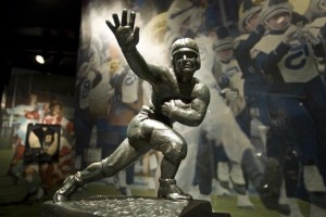 The Heisman Trophy won by John Cappeliti rest in the Museum.