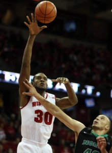 Nov 17, 2015; Madison, WI, USA; Wisconsin Badgers forward Vitto Brown (30) shoots.Mary Langenfeld-USA TODAY Sports