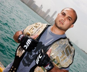 BJ-Penn-Holding-His-UFC-Champion-Belts