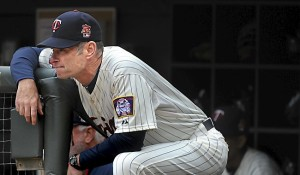 Minnesota Twins Paul Molitor watches the last game of the season at Target Field  in Minneapolis on Wednesday, September 24, 2014.  (Pioneer Press: Jean Pieri)
