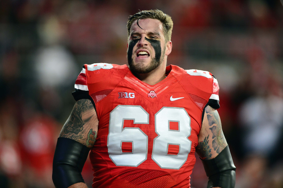 Ohio State Buckeye offensive lineman Taylor Decker (68) Photo by; Andrew Weber-USA TODAY Sports