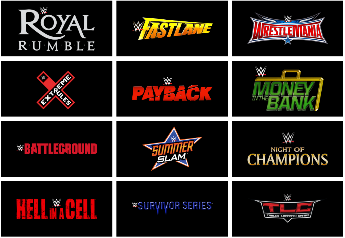 Complete List Of 2018 WWE Pay-Per-Views